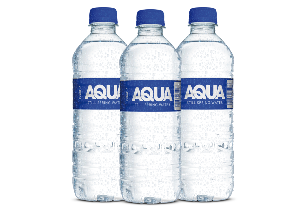 Aqua Spring Water <br />Bottle Design