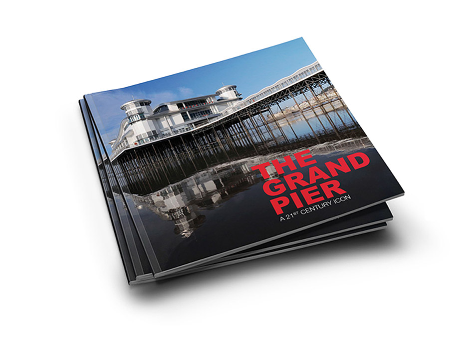 Book design for<br>The Grand Pier<br>Western-super-Mare